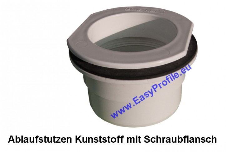 Ablaufstutzen Kunststoff 80 mm weiß