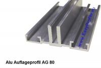 Aluauflageprofil-Glasauflageprofil Alu für Wintergarten und Fassade 80 mm