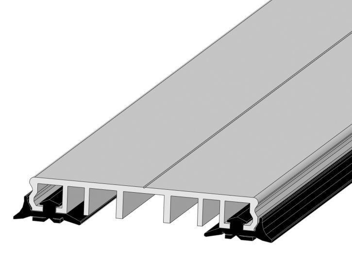 Klemmprofile P.60.e 4 Meter Pressleisten Verlegeprofile mit Dichtung