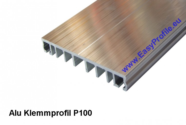 Klemmprofil P.100.e  4 Meter  Alu , Pressleiste, Verlegeprofil