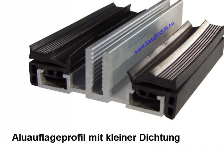 Verlegeprofile Alu für VSG Glas - für 80 mm Unterkonstruktionen, 3000 mm lang
