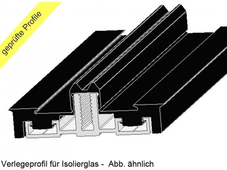Alu Auflageprofil Komplettprofil isoliert für 60 Unterkonstruktionen