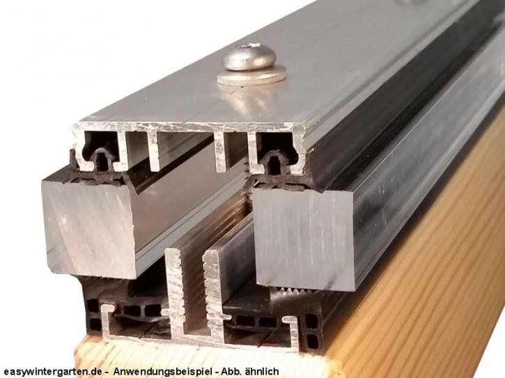 verlegeprofil mittelprofil komplettprofil 60 mm f r vsg glas bei terrassend cher. Black Bedroom Furniture Sets. Home Design Ideas