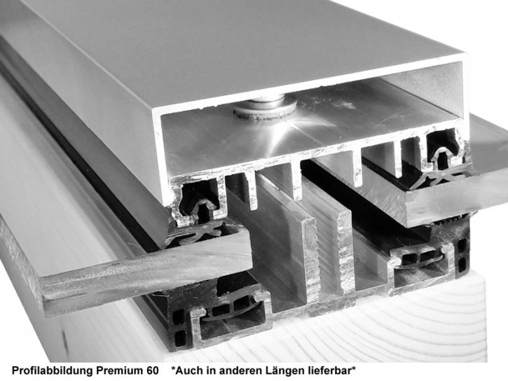 Befestigungsprofile Premium 60, 4 Meter für Glas Solarmodule