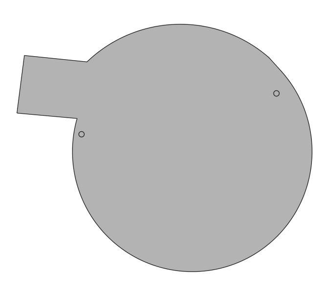 Deckel für Runde Dachrinne grau