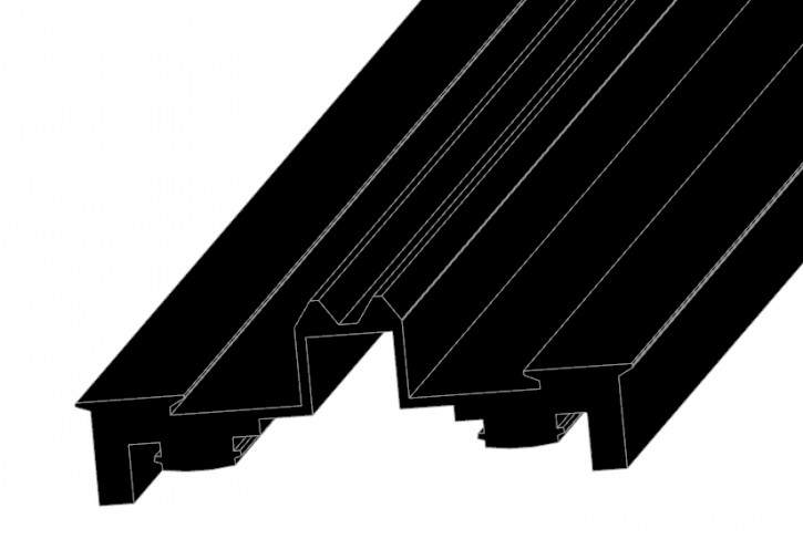 Glasauflagedichtung für AG... Profile, isolierend schwarz