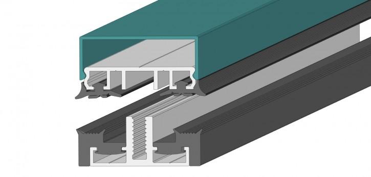 Verlegeprofile mit Unterprofil 60 -Planungsmuster- für flache Glasdächer