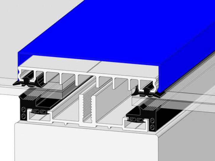 Verlegeprofile mit Unterprofil 100 -Planungsmuster- für flache Glasdächer
