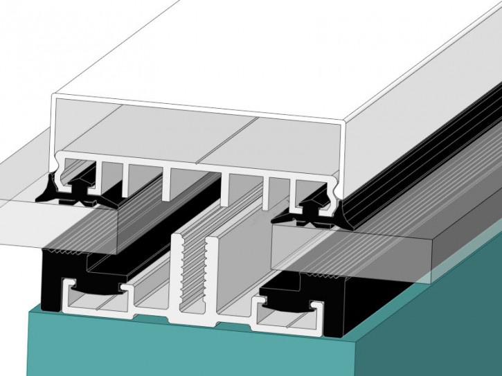 Verlegeprofile mit Unterprofil 80 -Planungsmuster- für flache Glasdächer
