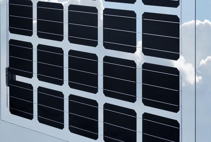 Doppelglasmodul 180.e-40 - 180 Wp, 40% Lichtdurchlass für Glasüberdachungen, 1000 x 1500 mm