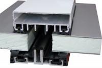 Alu Auflageprofil Komplettprofil isoliert für 60 -100 mm Unterkonstruktionen