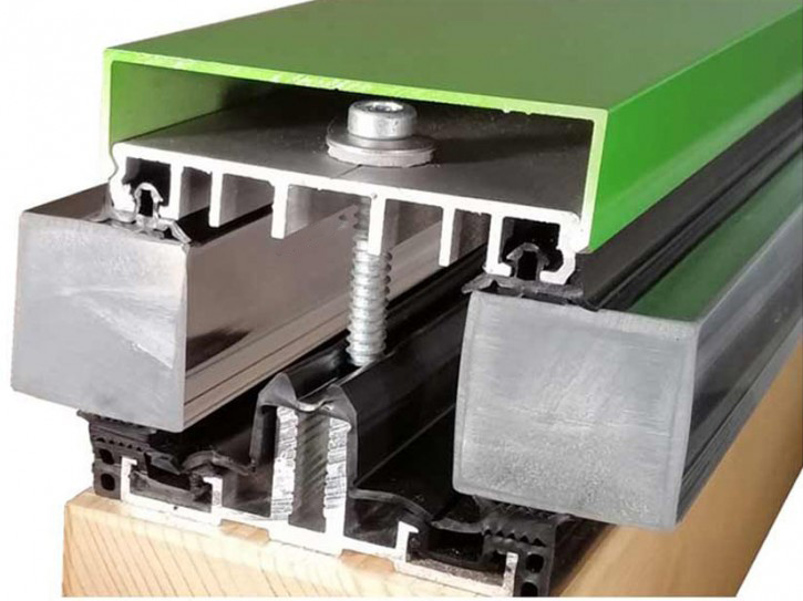 Verlegeprofile mit Unterprofil AG.80.e - Planungsset - für Isolierglas