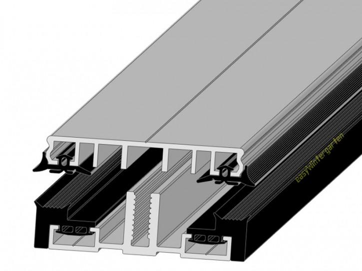 Mittelprofile für flache Glasdächer 80