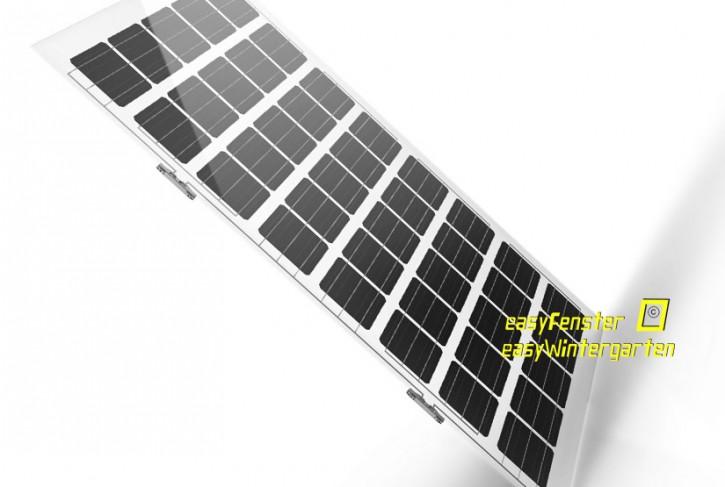 Doppelglasmodul Solarglas lichtdurchlässig - 200 Wp, 30% Lichtdurchlass für Glasüberdachungen 950x1600 mm