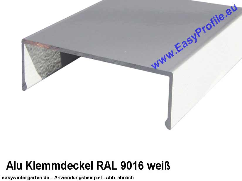 klemmdeckel deckprofil weiss f r 80mm breit 4000 mm lang. Black Bedroom Furniture Sets. Home Design Ideas