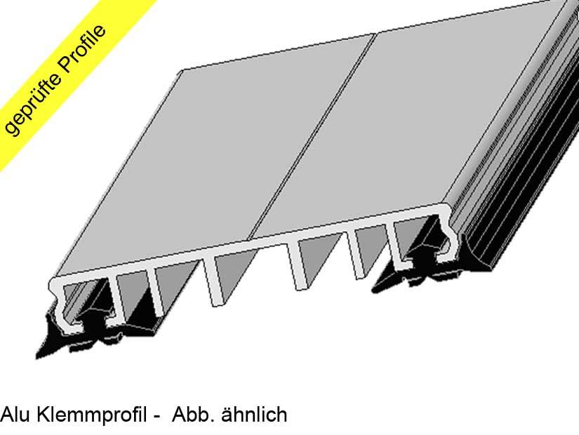 alu klemmprofile mit dichtung 60mm f r glas vsg glas isolierglas stegplatten. Black Bedroom Furniture Sets. Home Design Ideas