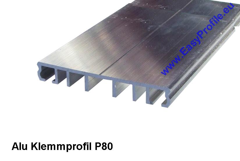 Alu Glas Profile ~ Alu klemmprofil p e meter für glas und stegplatten