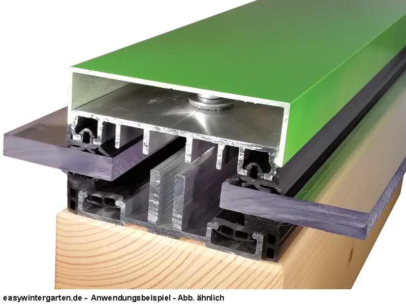 verlegeprofil mittelprofil komplettprofil 100 mm f r vsg. Black Bedroom Furniture Sets. Home Design Ideas