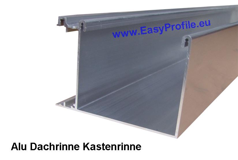 Kastendachrinne alu  Aluminium Dachrinne RAL 9016 weiss