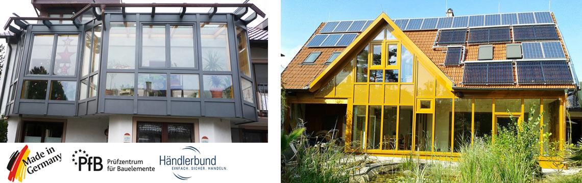 Fassadenprofile für Glasfassaden Glasbau