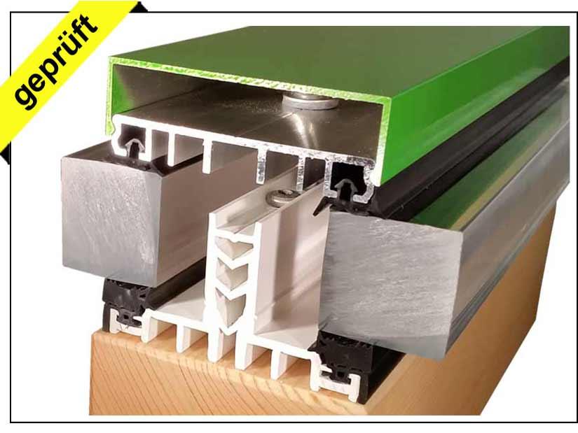 thermoprofil thermosprosse mit alu klemmprofil komplettprofil 60 mm. Black Bedroom Furniture Sets. Home Design Ideas