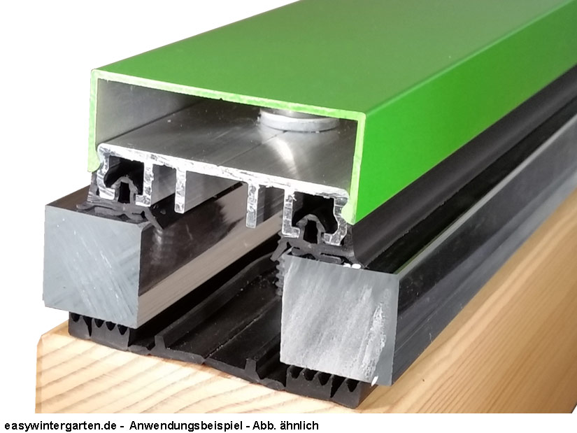 mittelprofile komplettprofile klemmprofile alu 80 mm mit gummidichtung. Black Bedroom Furniture Sets. Home Design Ideas