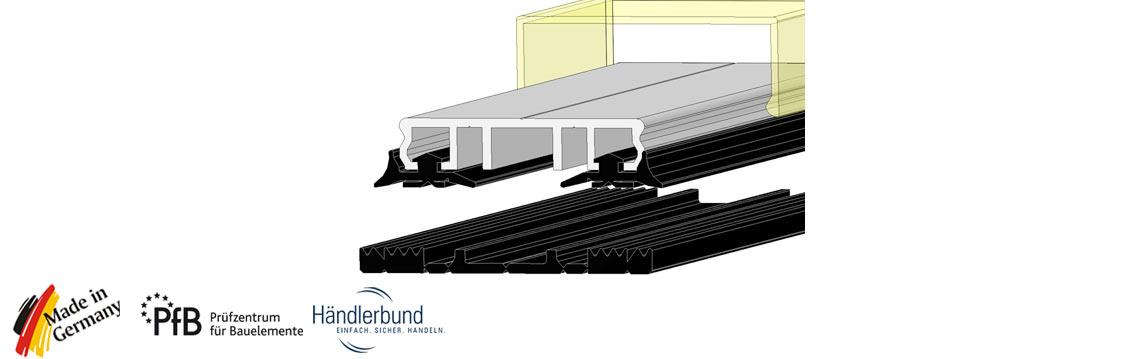 verlegeprofile mit auflagegummi fuer vsg glas einfachglas. Black Bedroom Furniture Sets. Home Design Ideas