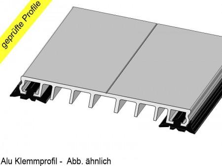 alu klemmprofile 4 meter mit dichtung 60mm f r glas vsg glas isolierglas stegplatten. Black Bedroom Furniture Sets. Home Design Ideas