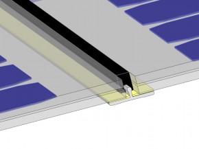 Glasstoßprofil für VSG oder Doppelgalsmodule