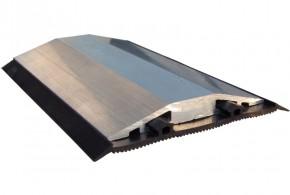 Glasstossprofil - Glasstoßprofil Alu 6000 mm lang, mit Dichtung